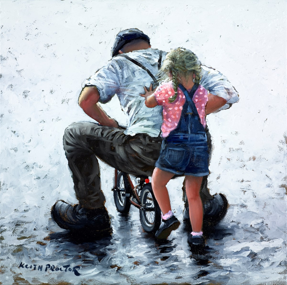 Young at Heart by keith proctor -  sized 24x24 inches. Available from Whitewall Galleries